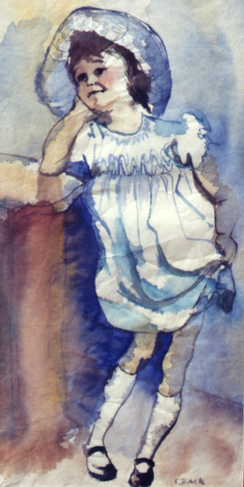 Portrait of Joyce in her Easter Dress and Hat